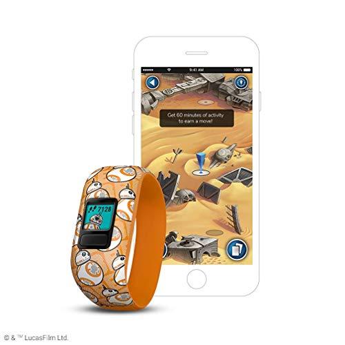 Garmin Vivofit jr. 2 - Stretchy Adjustable Activity Tracker for Kids + 1 Year Extended Warranty (BB-8)