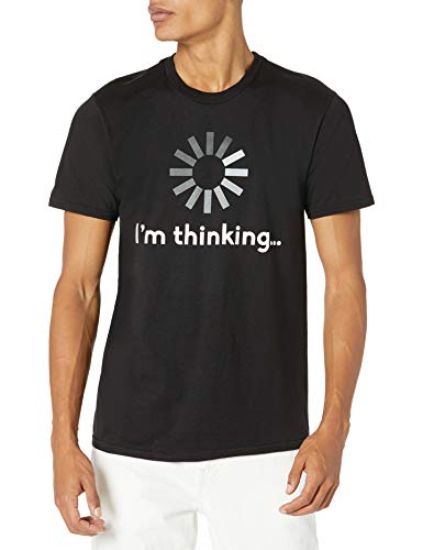 Hanes Men's Graphic Tee-Humor, I'm Thinking Black, Large