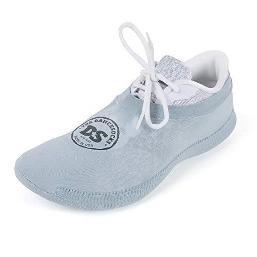THE DANCESOCKS - 100% USA Made Over Sneaker Dance Socks, Carpet (1 Pair Lt Grey)