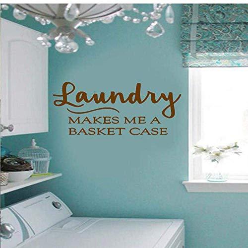Servicio de lavandería me hace una cesta calcomanías calcomanías hogar vinilo pared...