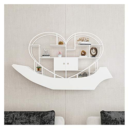 Baldas flotantes Soar estantes montados en la Pared Flotante, en Forma de corazón de Metal Multi-Capa de Bastidores, Nordic Baño Pasillo Dormitorio Decoración Creativa Estante de Almacenamiento