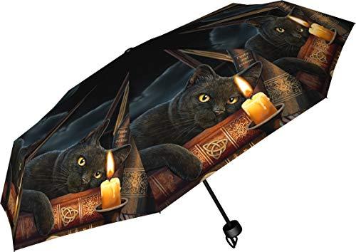 Nemesis Now Witching Hour Lisa Parker Regenschirm 24 cm schwarz, Kunststoff, Metall, 190T Pongee