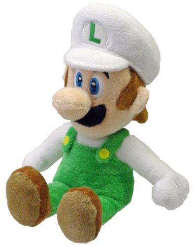 "Nintendo Official Super Mario Fire Luigi Plush, 8"""""", Multi-Colored (1250)"