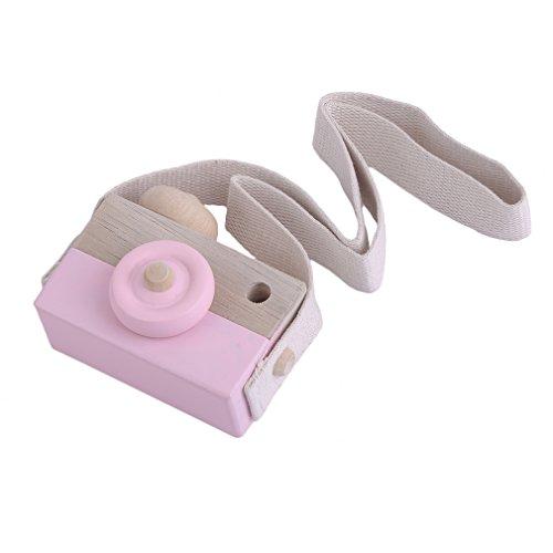 DDGE DMMS - Cámara de juguete de madera para el cuello, para juegos de bebé, para niños, niñas y niños