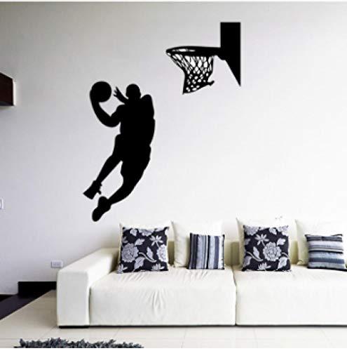 Wandtattoo-Basketball Slam Dunk Dunk Wandaufkleber 57X72Cm Wandtattoo/Aufklebe/Kinderzimmer/Wohnzimmer Schlafzimmer/Plakat/Cartoon/Wandbild