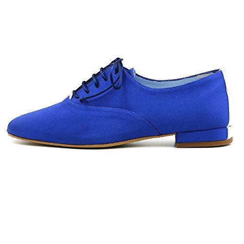 CIVI. Zapato Oxford Inglés de señora. Calzado de Mujer con Cordones. Aul...
