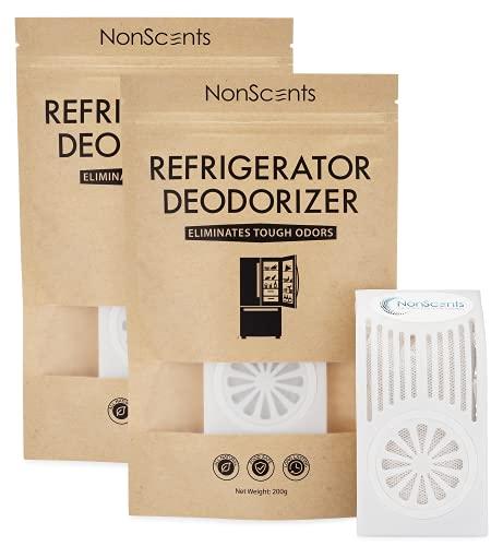 NonScents Refrigerator Deodorizer - Fridge and Freezer Odor Eliminator (2-Pack)