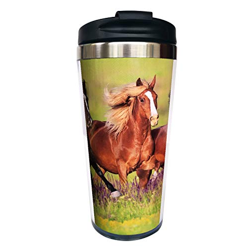 horse coffee cup with lid - 3