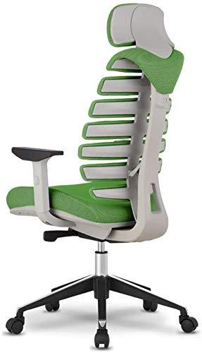 BeingHD Qualitätsbürostuhl, Bürostuhl mit Armlehne Bürostuhl Mesh Chair Einstellbar Rotary Computer Schreibtisch und Stuhl, Gaming Chair High Back Ergonomischer Executive Chair (Color : Green)