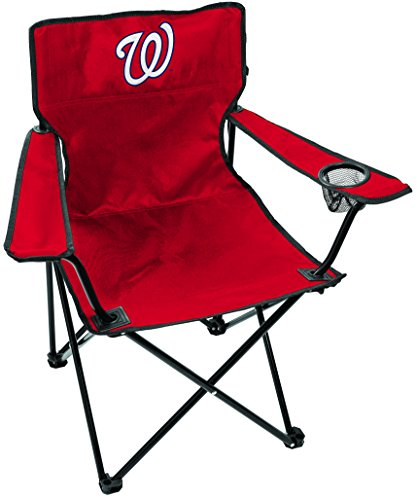 Rawlings MLB Gameday Elite Lightweight Folding Tailgating Chair, with Carrying Case, Washington Nationals