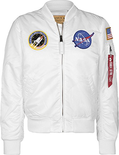 ALPHA INDUSTRIES 1 VF NASA, Blanco, XL Uomo