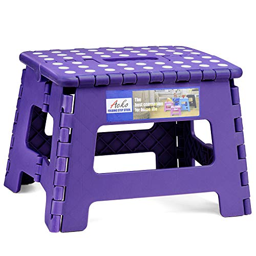 ACSTEP Acko Folding Step Stool Portable Collapsible Plastic...