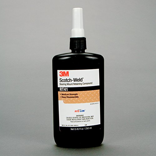 3M Scotch-Weld Bearing Mount Retaining Compound RT41, 250 mL Bottle