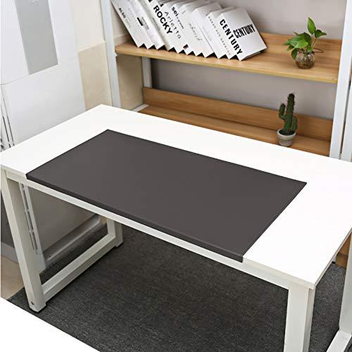 DM&FC PU Kunstleder Office Desk Mausmatte Mit Full Grip Fixation Lip, Tisch Blotter Desk-pad-Protector Wasserdicht Gaming-schreiben Matte-Kaffee 60x40x2cm