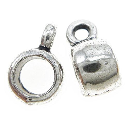 Bacabella 21485 Lot de 5 fermoirs à mousqueton Argenté Œillet 3,5 mm 9 mm