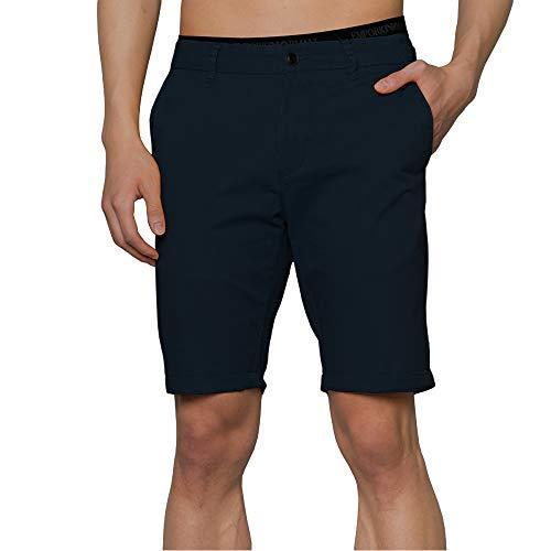Zedelmaier Herren Kurze Modernhose aus Baumwolle Cuba Chino Shorts Kurze Hose Regular Bermudas Sommerhose Herrenshorts (Dunkelblau, 40)
