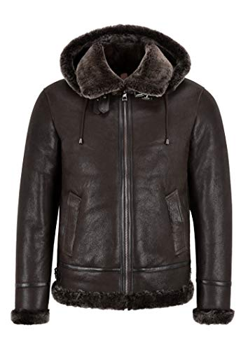 Smart Range Leather Giacca da Uomo in Pelle di Montone B3 Giacca in Vero Bomber in Shearling Giacca Invernale WW2 A-Pilot (M)