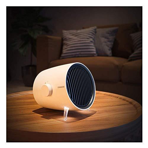 Smart-Heizung, Kleine elektrische Heizung mit 1 Sekunde Keramik Heizung, 3 Stufen der Temperatureinstellung, Natur Wind und warme Wind 2 in 1, Mute Energy Saving yqaae