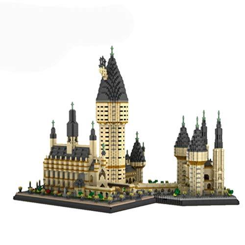 Msoah Harry Potter Castillo De Hogwarts - Juguetes De Bloques De Construcción Nano Juguete De Construcción(con Luz)
