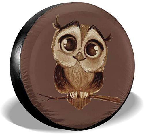 MODORSAN Owl - Cubiertas universales de poliéster para Rueda de Repuesto para Llantas, para Jeep, Remolque, RV, SUV, camión, Accesorios, 17 Pulgadas