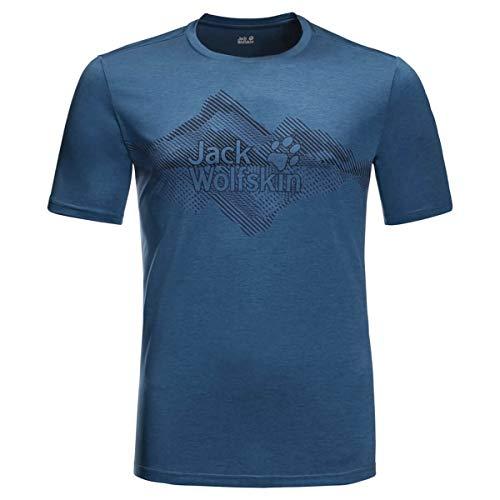 Jack Wolfskin Herren Crosstrail Graphic T-Shirt, Indigo Blue, M