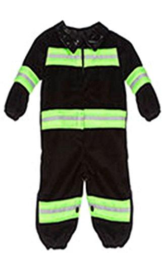 Jannes - Kinder-Kostüm Feuerwehrmann, schwarz, Kleinkinder 86