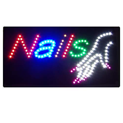 Tablero LED de la muestra de la ventana de los clavos que parpadea, luz fija (vea el enlace video en la descripción)