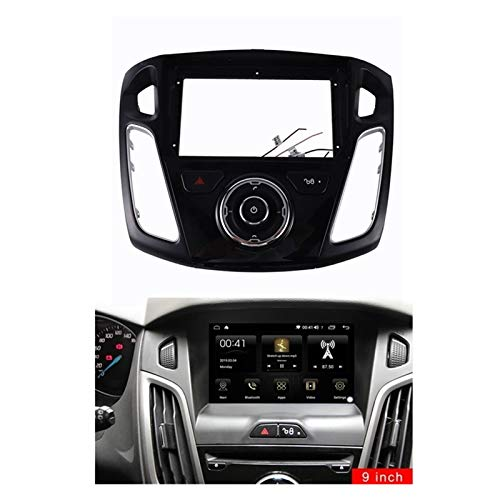 CLEIO Coche Radio Fascia FIT FOR Ford FOCUSE 2012-2017 9 Pulgadas Estéreo DVD DVD Juego Kit Placa de Cara (Color Name : Black)
