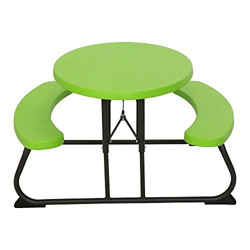 Lifetime - Mesa de pícnic ovalada para niños en verde lima (60132 ...