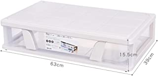 TLMYDD Boîte vraiment utile grande boîte de rangement claire Panier de rangement (Color : Transparent, Size : 63 * 39 * 15...