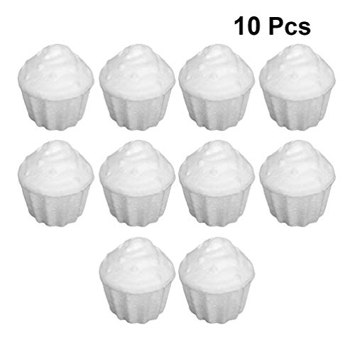 Holibanna schiuma cupcake polistirolo polistirolo forme dessert albero di natale bianco artigianato centrotavola puntelli centrotavola 10 pezzi 78 mm