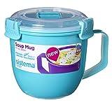 Sistema 2 Stück Mikrowelle Klein Suppe-Becher, 565ml, BPA Free - Gemischte Farben