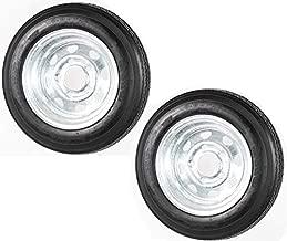 2-Pk Trailer Tire Rim 4.80-12 12 in. Load C 5 Lug Galvanized Spoke Wheel