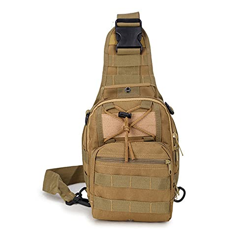 JJBKT Nylon hombro mensajero bolsa impermeable militar táctica mochila hombres pecho bolsa al aire libre Molle bolso 4 colores, Hombre, 3076431092, caqui1, Other