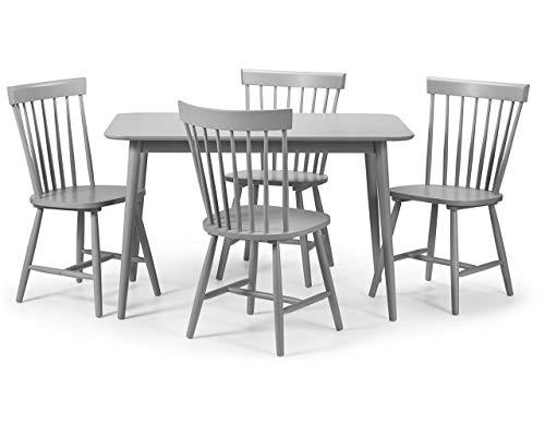 Julian Bowen Esstisch und 4Torino Stühle, Holz, Grau, 120x 75x 74cm