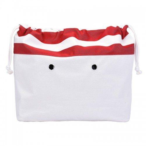 Sacca interna borsa O Bag beach mini righe rosso