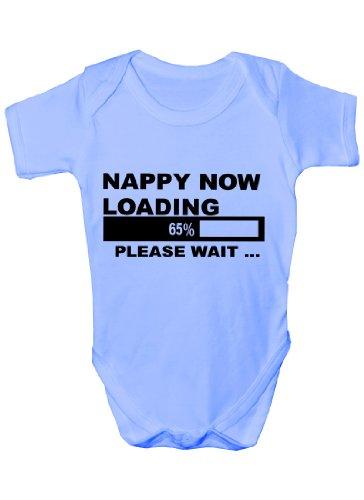 Couche maintenant chargement Funny Body bébé Cadeau Fille/Garçon Gilet - Bleu -