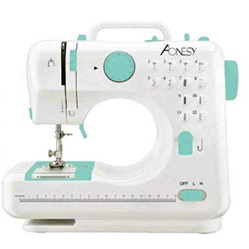 Máquina de coser portátil AONESY Máquina de coser 12 puntadas 2 velocidades Mini máquina de coser Overlocker Máquina de bordar Máquinas de coser para principiantes Inicio