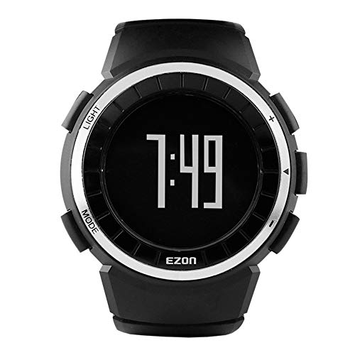 EZON Men's Sports Watches with Calories Counter Pedometer and Fitness Tracker T029 Black