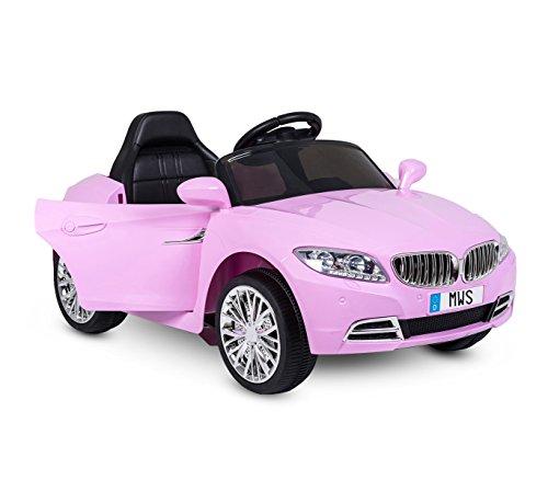Media Wave Store - Coche eléctrico LT861para niños modelo «Crazy», color rosa, con puertas automáticas y 3velocidades.Media Wave Store.
