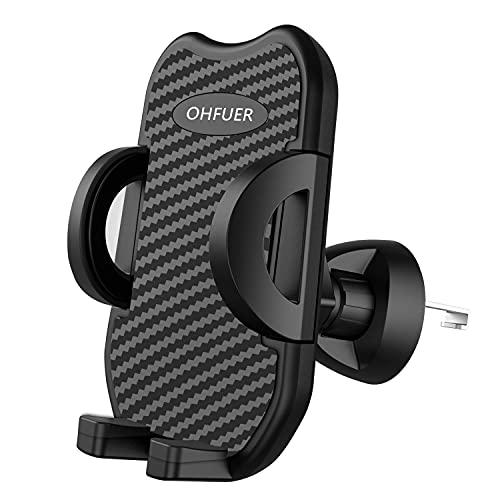OHFUER Versione Aggiornata Porta Cellulare da Auto Supporto Auto Smartphone per Bocchetta Dell'aria 360 Gradi di Rotazione Operare con Una Sola Mano Supporto Porta Telefono Auto Universale - Grigio