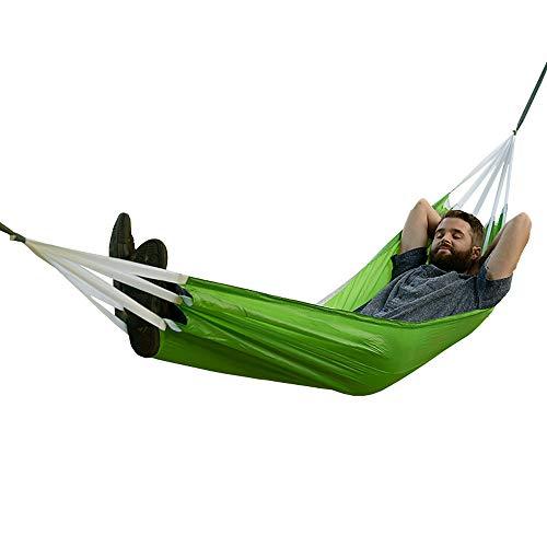 Novopus Hamac:Naturehike Hamac de Camping Extérieur Portable, Poids Léger, Epais Nylon pour 2 Personne Camping/Extérieur/Voyage - Orange, Vert:M