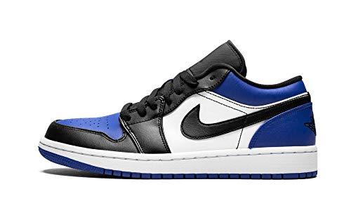 Nike Air Jordan 1 Low, Zapatillas de básquetbol para Hombre, Sport Royal Black White, 44 EU