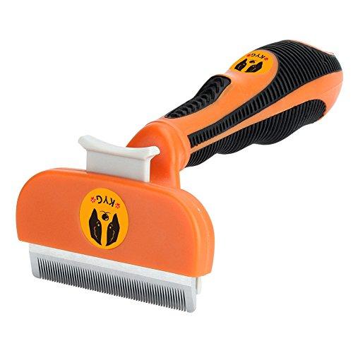 KYG 猫 ブラシ 毛繕い 抜け毛除去用品 中小型犬 猫用 オレンジ Mサイズ