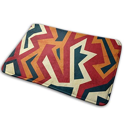 Sunwei firma Aztec Naadloos Patroon Met Glas Effect Badmat Polyester Voordeur Mat Badkamer Tapijt Voor Binnen Outdoor 15.7