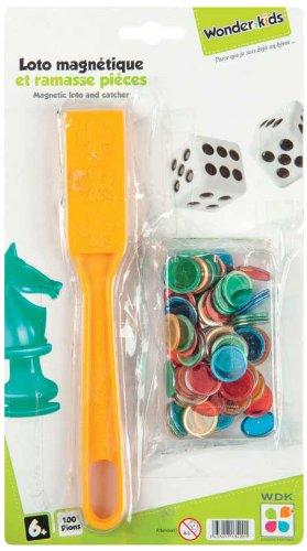 WDK Partner A1300730 - Juego de 100 fichas magnticas para lotera