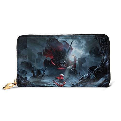 Anime God Eater Artwork Genuine Leather, High-Grade Waterproof Large-Capacity Zipper Wallet, Luxury Fashion Wallet for Women, Men