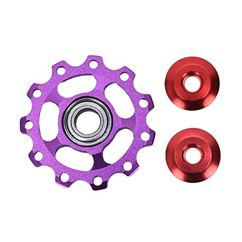 NOBRAND Aleación de Aluminio MTB Bicicletas Desviador Trasero polea de guía Bicicletas Jockey Rueda de Carretera Rodillo Loco Parte Ciclo de Accesorios (Color : Purple)
