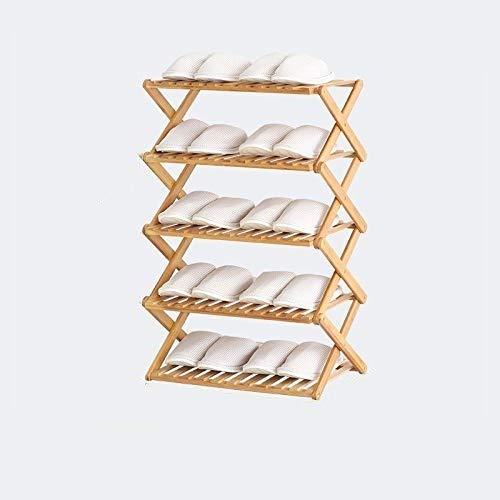 known Scarpiera in bambù, 100% Naturale e rinnovabile, scarpiera Pieghevole Super Robusta e Durevole Senza Installazione, (2 Strati-6 Strati) - Portata Massima 40 kg