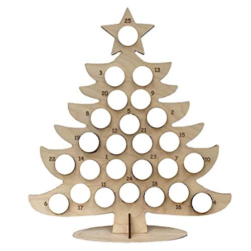 deendeng Decoraciones de Navidad - Mini árbol de Navidad de papel 3D de mesa con luces LED de cadena de Navidad DIY Decoración